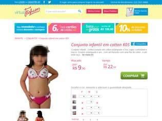 Bojo e renda: detalhes dessa lingerie infantil lembram peças íntimas de mulheres adultas