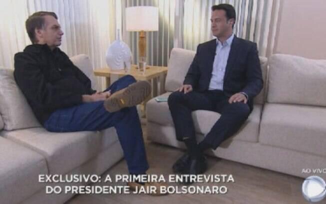 Bolsonaro concede sua primeira entrevista exclusiva como presidente eleito à Record