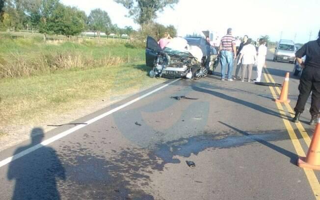 O carro de Sebastián Rabellino, amigo de Emiliano Sala, ficou destruído