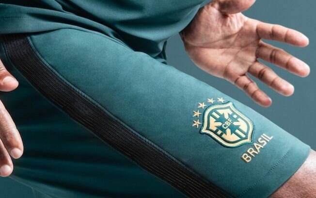 Short do novo uniforme da seleção brasileira
