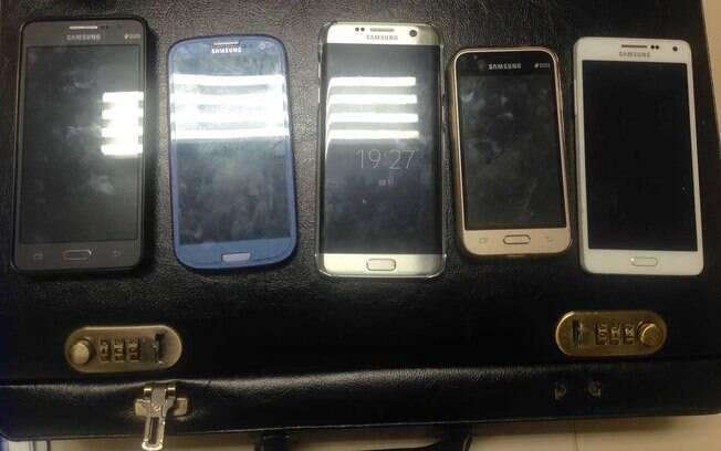 Nos celulares apreendidos, os estelionatários paranaenses criaram um grupo no Whatsapp chamado de