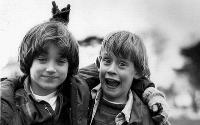 Macaulay Culkin e Elijah Wood durante as filmagens de O Anjo Malvado
