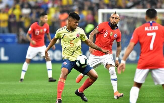 Chile e Colômbia duelaram na Arena Corinthians pela Copa América