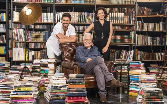 Romulo Estrela, Antonio Fagundes e Fabiula Nascimento