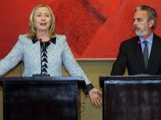 Hillary Clinton em encontro com Antonio Patriota