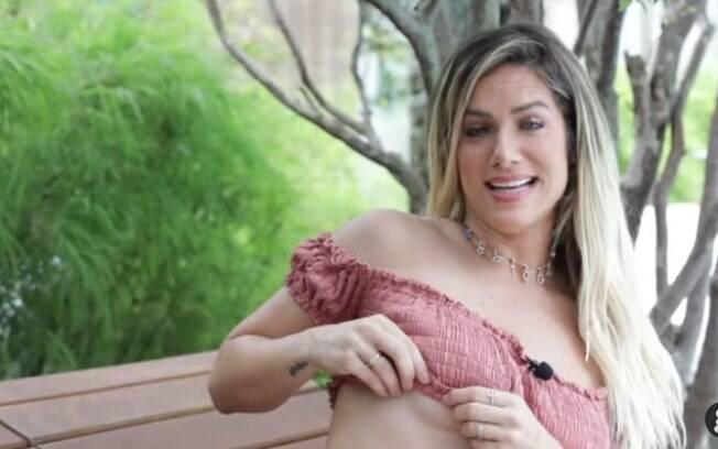 Giovanna Ewbank mostra cicatriz da cirurgias de próteses de silicone e diz ser libertador