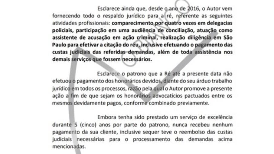 Advogado cobra cerca de R$ 100 mil da cantora na Justiça