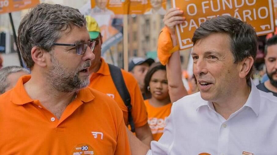 Christian Lohbauer e João Amoêdo na campanha presidencial de 2018