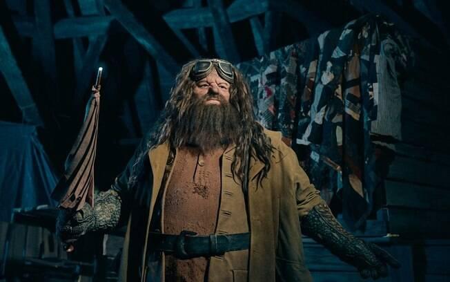 Montanha-russa em homenagem ao personagem Hagrid, da franquia