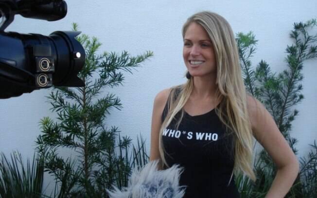A modelo Susana Werner, casada com o goleiro  Júlio César, é torcedora do Fluminense