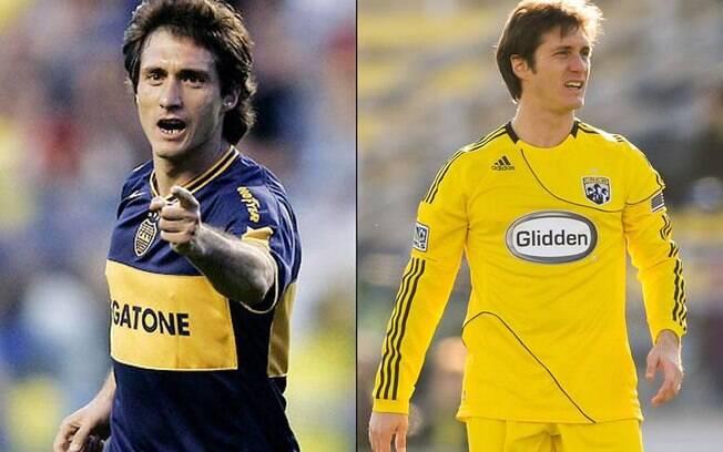 Os irmãos argentinos Guillermo e Gustavo Barros Schelotto jogaram juntos pelo Boca Juniors