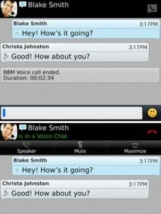Nova versão do BBM ganha recurso de chamadas de voz