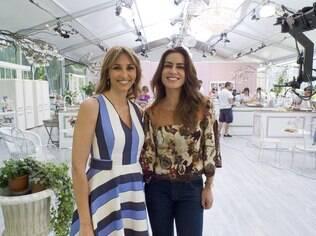 Ticiana Villas Boas e a apresentadora Benedetta Parodi, que também trocou a bancada de um telejornal na Itália pelo comando de um reality