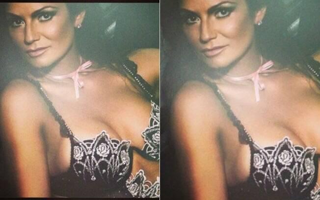 Luiza Brunet posta fotos de ensaios antigos, em que aparece em poses sensuais, no Instagram