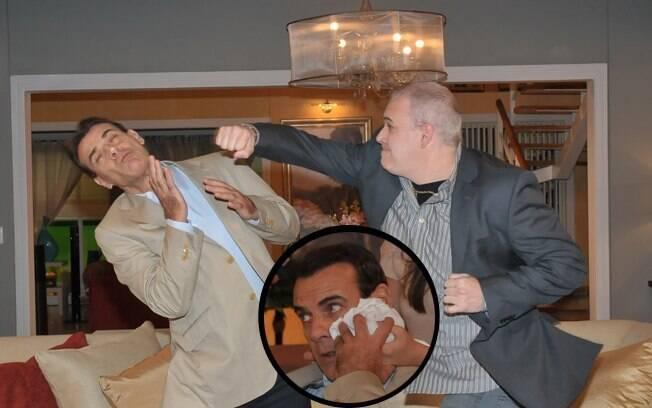 Cleber e Maurício brigam e advogado acaba ferido