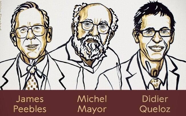 James Peebles, Michel Mayor e Didier Quelo foram os premiados da edição 2019