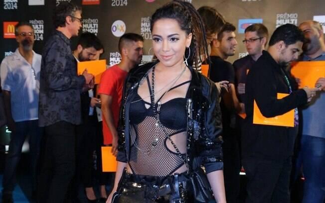 Visual de Anitta surpreende no 'Prêmio Multishow'