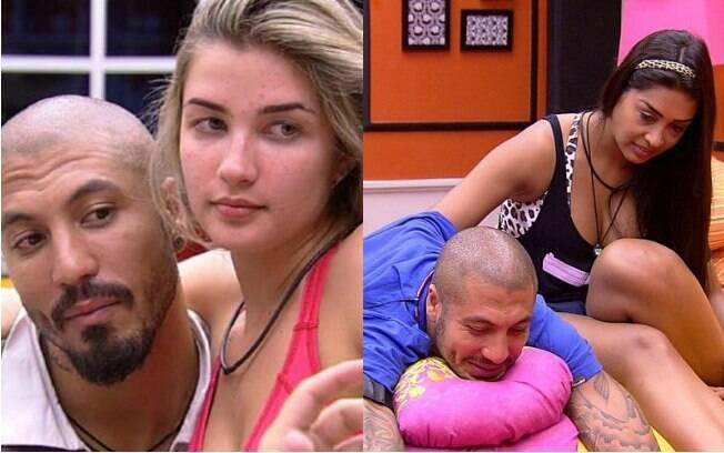 Fernando namorou Aline no começo do 'BBB 15', mas acabou o programa ao lado de Amanda