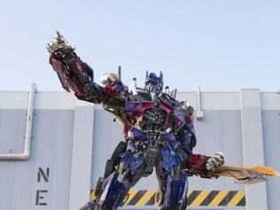 Optimus Prime é um dos carros-robô da atração Transformers The Ride 3D, da Universal