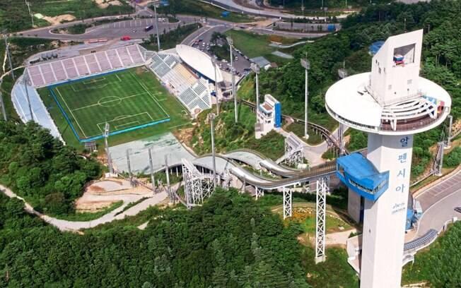 Estádio de Pyeongchang, na Coreia do Sul