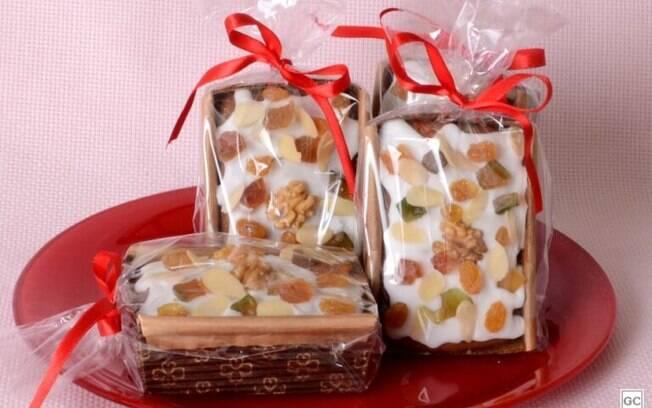 Minibolo ingls natalino: opo para vender ou presentear algum neste fim de ano