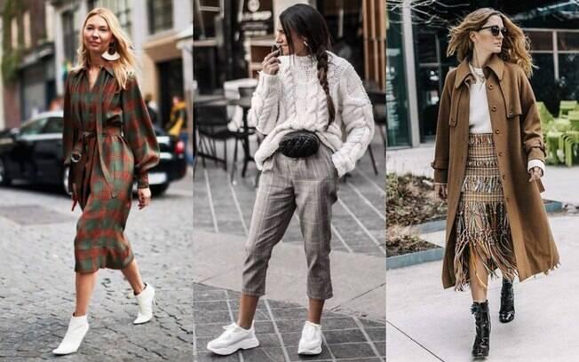 Tênis estilo 'daddy sneakers' e botas vão fazer sucesso outono/inverno, inclusive com cores mais ousadas