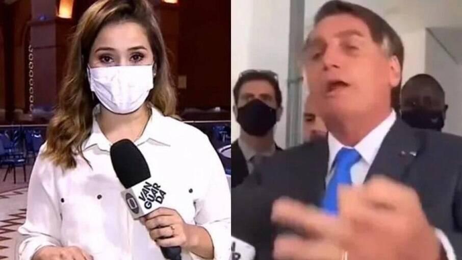 Laurene Santos e Jair Bolsonaro