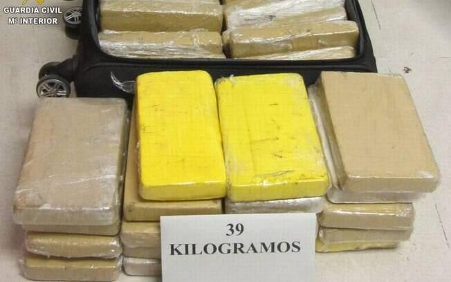 Os 39 quilos de cocaína levados à Espanha por militar da FAB.