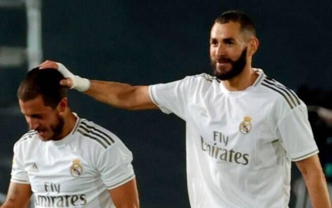 Benzema marcou duas vezes na vitória do Real sobre o Valencia
