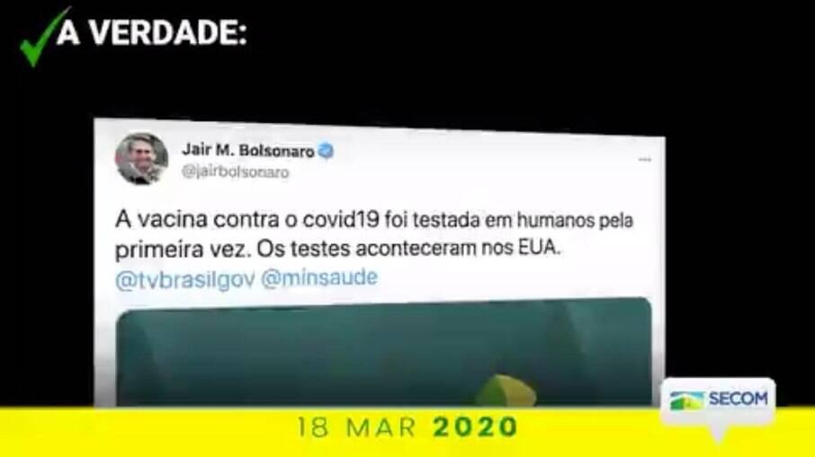 Publicação da Secom omitiu nome de Mandetta ao falar sobre vacinação