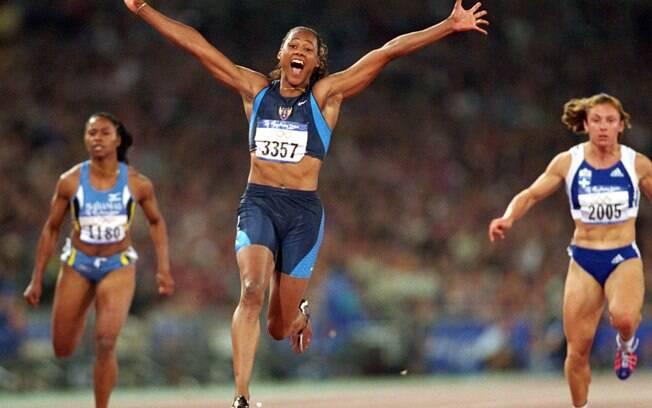 Marion Jones impressionou o mundo nas Olimpíadas de Sydney no atletismo