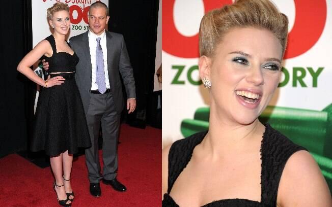 Scarlett Johansson e Matt Damon prestigiaram a pré-estreia do filme
