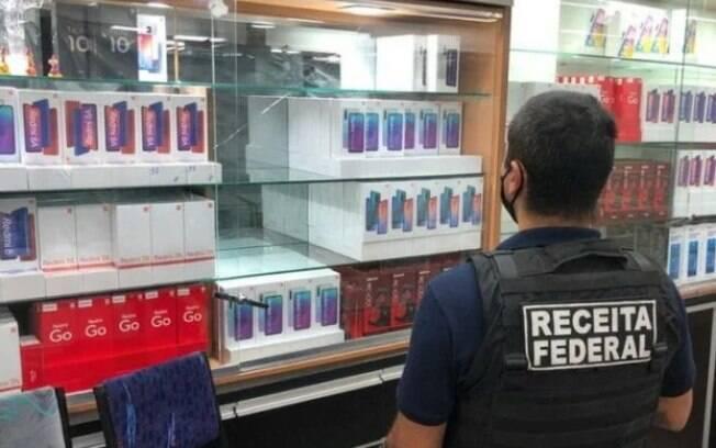 Receita Federal apreende celulares em São Paulo
