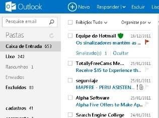 Outlook.com e Hotmail enfrentam problemas para exibir mensagens da caixa de entrada