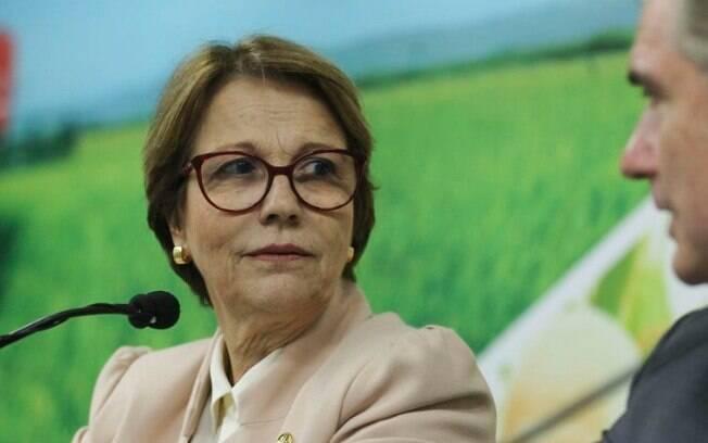 A ministra da Agricultura, Tereza Cristina, esteve em Bruxelas para negociar o acordo entre União Europeia e Mercosul