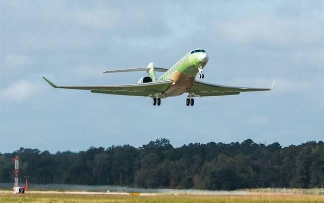 Voa mais um protótipo do maior jato executivo da Gulfstream