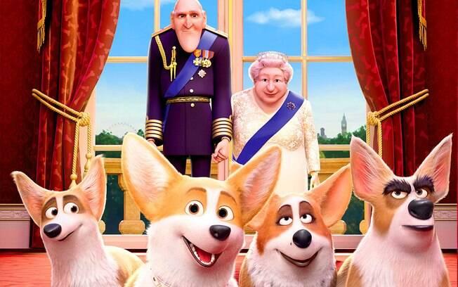 Rainha Elizabeth e seus corgis viraram desenho animado