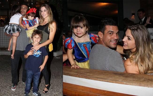 Vitor Belfort com a família