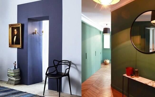 Cores, espelho, luz: vale tudo para caprichar no hall de entrada da nossa casa