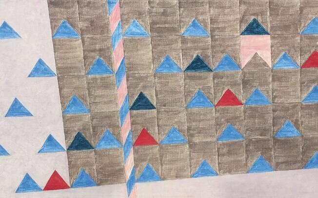 Bandeirinhas com mastro de Alfredo Volpi