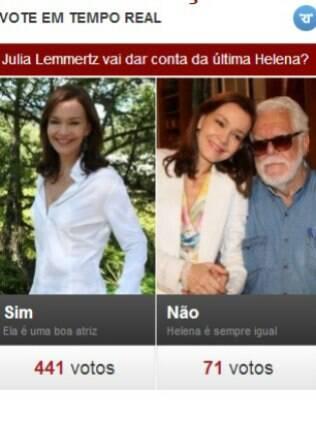 Internauta diz que Julia Lemmertz vai dar conta da última Helena de Manoel Carlos