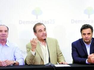 União. Aloysio Nunes, Agripino e Aécio buscam estratégias para organizar a oposição contra o PT
