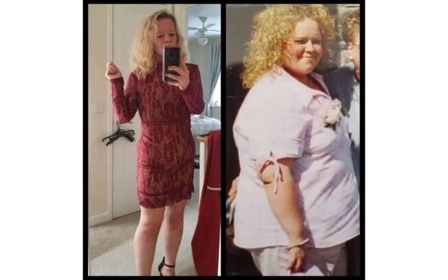 Com a dança e uma nova dieta, em oito meses Watts perdeu 44 kg. Ela continua no processo de emagrecimento