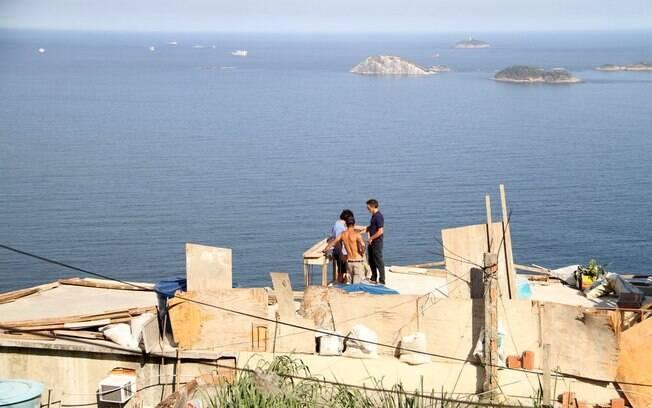 A bela vista da favela do Vidigal: privilégio que Vincent Cassel visitou hoje