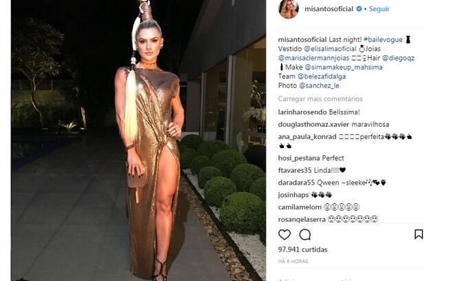 Look de Mirella Santos no Baile da Vogue 2018