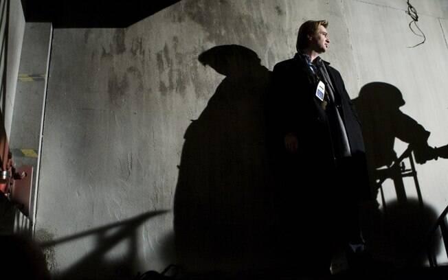 Christopher Nolan no set de Batman - O Cavaleiro das Trevas