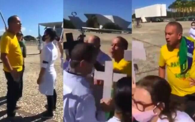 Profissionais de saúde são agredidos por bolsonaristas durante manifestação