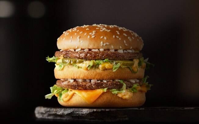 O lanche Big Mac, do McDonald's