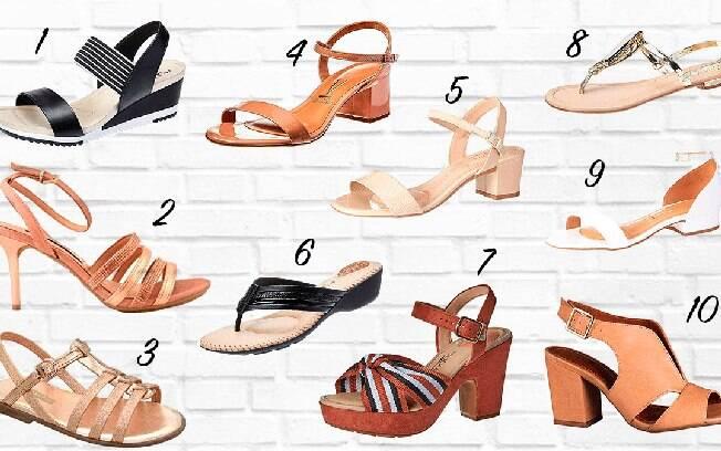 Modelos variados de sandálias para todos os gostos e bolsos