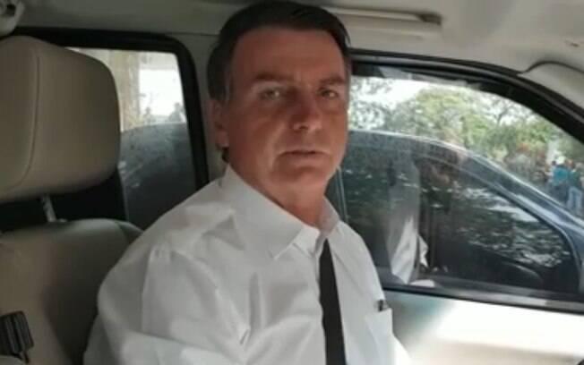 Bolsonaro parabenizou o governo do Rio, que anunciou a extinção da vistoria anual de veículos e fez anúncio sobre CNH